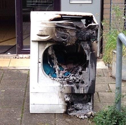 Oorzaak brand wasdroger